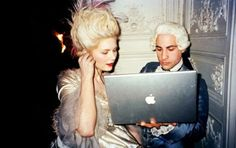 Kirsten Dunst & Jason Schwartzman on the set of Marie Antoinette