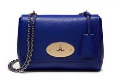 Mulberry Spring Summer 2016 Catwalk Collection Outlet UK-Mulberry Lily Neon Blue Small Classic Grain