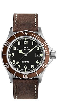 GLYCINE COMBAT SUB automatic Ref. 3863.19AT2 C-LB7BF - Swiss made watches - SwissTime
