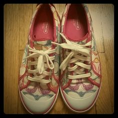 FINAL PRICE!  Coach sneakers These are in excellent condition!  Worn once. Coach Shoes Sneakers