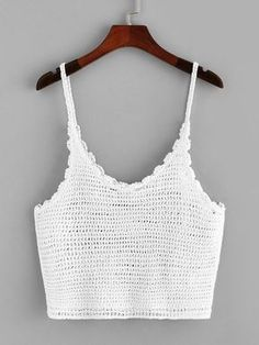 Loose Knit Crochet Cami Top