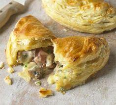 Ham, cheese & mushroom turnovers