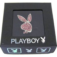 Playboy Ring Size S 5 6 7 Silver Band Pink Swarovski Crystal Bunny Ladies Women #Playboy #Statement