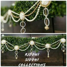 Door Hanging Decorations, Diwali Decorations, Indian Wedding Decorations, Handmade Home Decor, Handmade Decorations, Diwali Craft, Pearl Necklaces, Sewing Class, Rakhi