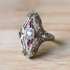 Hey, I found this really awesome Etsy listing at https://www.etsy.com/listing/230178352/18k-white-gold-diamonds-and-rubies