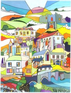 Following the production of tea towels from the Launceston Town Guide I was invited to produce a picture of Lostwithiel:)