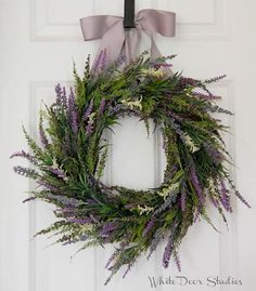 Lavender and Heather Wreath, Front Door Wreath, Spring Wreath, Summer Wreath Spring Front Door Wreaths, Holiday Wreaths, Christmas Decorations, Holiday Decor, Purple Wreath, Lavender Wreath, Indoor Wreath, Wedding Wreaths, Front Door Decor