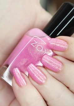Zoya Nail Polish in Wanda from the Luscious Collection  Swatches Nice Nails, Gorgeous Nails, Fun Nails, Zoya Nail Polish, Nail Polish Colors, Pink Makeup, Holiday Nails, Best Makeup Products, Swatch