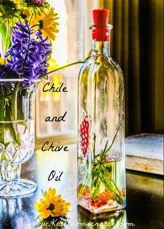 Chile and Chive Oil #recipe #food #cooking #easy #herb
