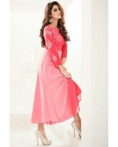 Pink Overlay Georgette Dress