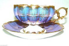 $45.99 Purple Royal Sealy Japan Iridescent Luster Tea Cup Saucer #RoyalSealyJapan