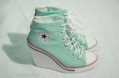 ~Turquoise Converse Wedges~