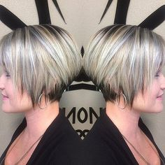 Bob Hairstyles for Fine Hair In 2020 30 Trendy Stacked Hairstyles for Short Hair Practicality Short Hairstyles For Women, Trendy Hairstyles, Straight Hairstyles, Short Haircuts, Hairstyles Haircuts, Hairstyle Short, Medium Hairstyles, Short Stacked Haircuts, Hairstyle Ideas