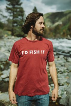 Men's I'D FISH IT TEE - A motto all true anglers can live by, our I'D FISH IT tee says it so you don't have to! Made from the softest cotton available, our tees are sure to spend more time on your back than anything in your closet! Motto, Fish, Mens Tops, Closet, Women, Style, Fashion, Swag, Moda