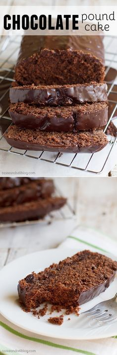 Dark and rich, this Chocolate Pound Cake is any chocolate lover's dream. A dense chocolate cake has dark chocolate chips throughout and then is topped with a dark chocolate glaze.