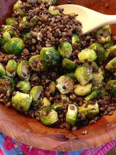 lentil and brussels sprout salad with sweet maple dressing ~vegan, gluten free~