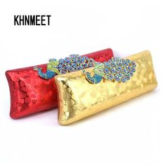 Aliexpress.com : Buy Evening Bag with Embossed Diamond Crystal Peacock Clutch Bag Red Pu Clutches Dinner Bag Wedding Bride Purse banquet bag 8801 from Reliable bags vacuum food sealers suppliers on KHNMEET Factory Store