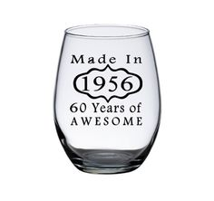 60th Birthday Wine Glass, Woman's 60th Birthday, 60th Birthday Man, Birthday…                                                                                                                                                                                 More