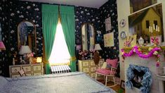 Amy Sedaris' apartment is a warren of whimsy and individuality reflective of the owner. Here is a look through the wonderland. Greenwich Apartment, Yellow Cupboards, White Rocking Chairs, Amy Sedaris, Villa, Chimney Breast, White Sofas, Celebrity Houses, One Bedroom