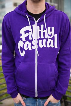 Filthy and fantastic. Printed on a poly-cotton (60% ring-spun cotton, 40% poly fleece) hoodie.