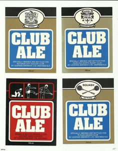 4 Leopard Brewery Beer Labels, Club Ale | Trade Me