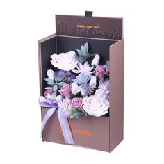 Adore Home Living - Luxury Soap Flowers Purple Gift Box Artificial Flower Arrangements, Rose Arrangements, Artificial Flowers, Bordeaux, Bath Flowers, Flowers Australia, Rose Bath, Rose Soap, Luxury Soap