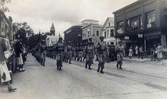 Parade in Bennington, American Legion Band (September, 1950)