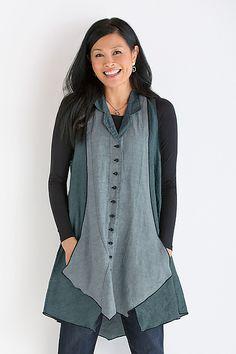 Balsa+Vest by Cynthia+Ashby: Linen+Vest available at www.artfulhome.com