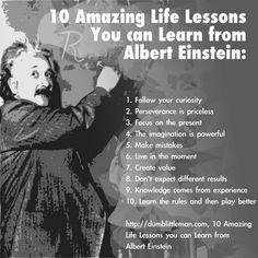 10 Life Lessons learned from Albert Einstein