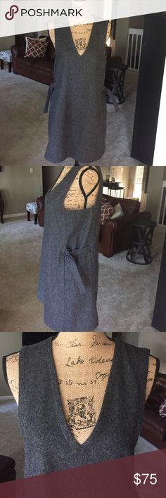 Kate spade Saturday size small Grey Kate spade Saturday dress. 50% polyester 45% wool 5% viscose. Cute side buckle detail. kate spade Dresses