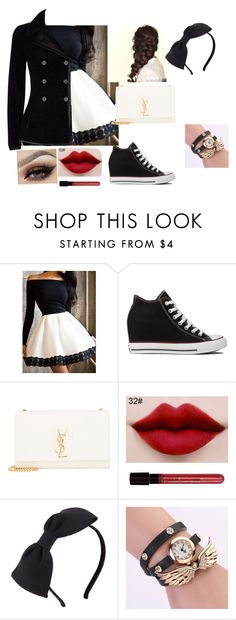 """""""Untitled #15"""" by glittergirl155 on Polyvore featuring Converse, Disney, Yves Saint Laurent, AG Adriano Goldschmied, Kate Spade and Alexander McQueen"""