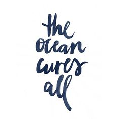 The ocean cures all