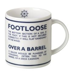 #Nautical Footloose #Mug - Aldiss.com