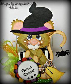 ELITE4U SCRAPPINWMN PREMADE SCRAPBOOK HALLOWEEN GIFT BOX PAPER PIECING BOY GIRL #Halloween