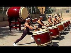 "The Shumei Taiko Ensemble - Japanese Drums (13:55). Longer version and better sound quality than the original ""The Power of Japanese Drums"" clip."