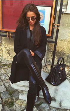 Hermes Handbag & Rider Boots