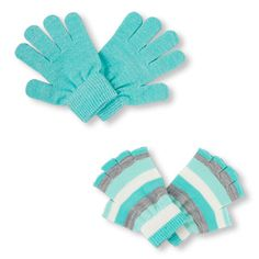 The Childrens Place Big Girls 2 Pack Gloves