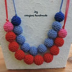 necklace, beads crochet