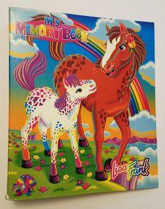 Vintage Lisa Frank Rainbow Chaser Pony My Memory Book 3 Ring Binder #LisaFrank