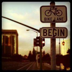 begin biking
