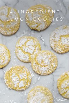 4-Ingredient Lemon Cookies  via @PureWow via @PureWow