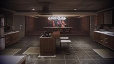 Mass Effect 3 Citadel Apartment - Kitchen Mass Effect Citadel, Mass Effect 3, Apartment Kitchen, Architecture Details, House Design, Interior Design, Modern, Inspiration, Home Decor