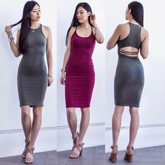 Ribbed dress // burgundy New! Available now in small. Dresses