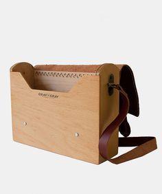 Satchel Wooden Bag $140 by GRAV GRAV Handmade Handbags & Accessories - amzn.to/2ij5DXx Clothing, Shoes & Jewelry - Women - handmade handbags & accessories - http://amzn.to/2kdX3h7