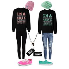 Best Friends by maddyarcher on Polyvore featuring polyvore, fashion, style, H&M, Pieces, Kate Spade, Vans, Accessorize and Superdry