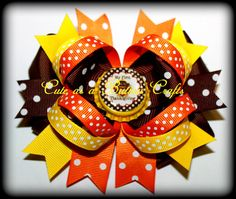 Beautiful Mix and match Baby's first Thanksgiving hair bow