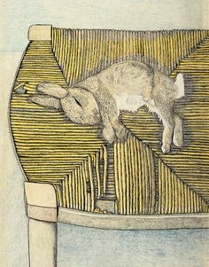 Lucian Freud, Rabbit on a Chair, 1944 (The only Lucien Freud I actually like!)