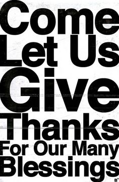 Give Thanks to God...Always