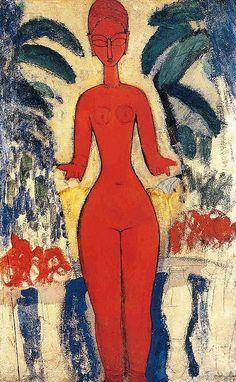 Standing Nude. Amedeo Modigliani