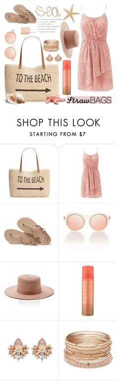 """""""Senza titolo #4916"""" by waikiki24 ❤ liked on Polyvore featuring Style & Co., Rebecca Taylor, Havaianas, Janessa Leone, Red Camel, Essie and strawbags"""
